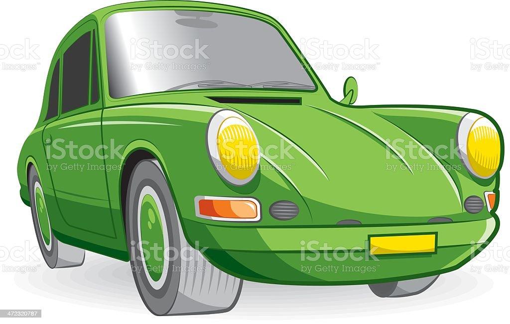 green sport car vector art illustration