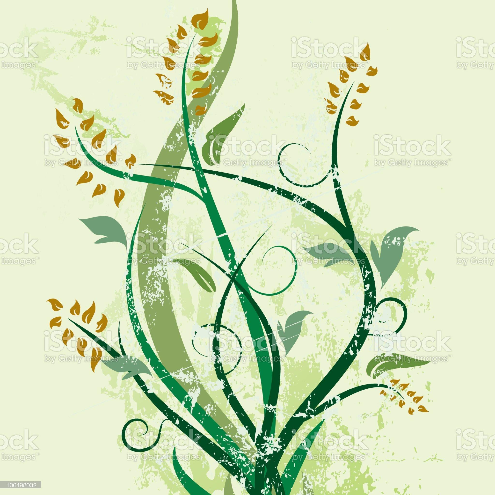 Green Spring Embellishment royalty-free stock vector art