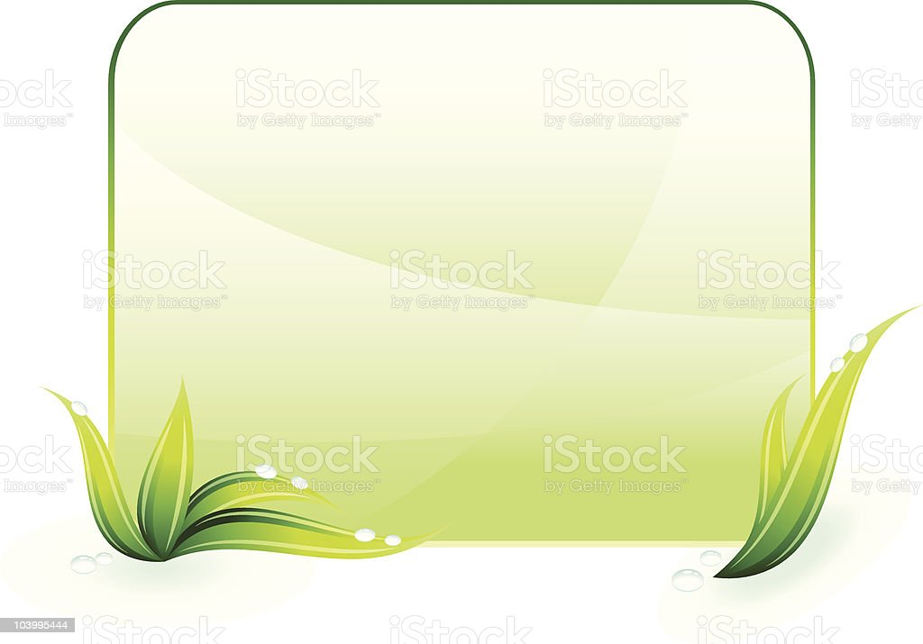 Green spring / summer background royalty-free stock vector art