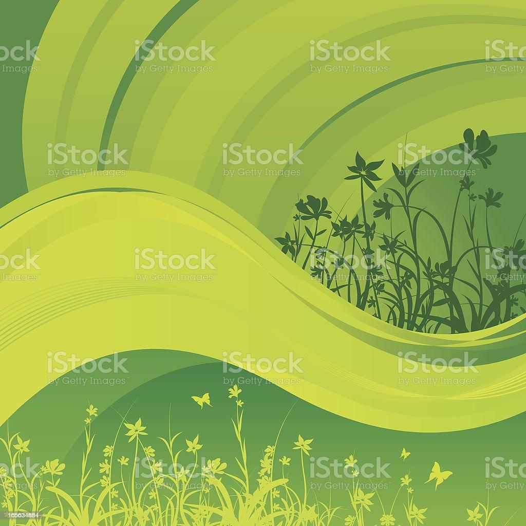 Green spring royalty-free stock vector art