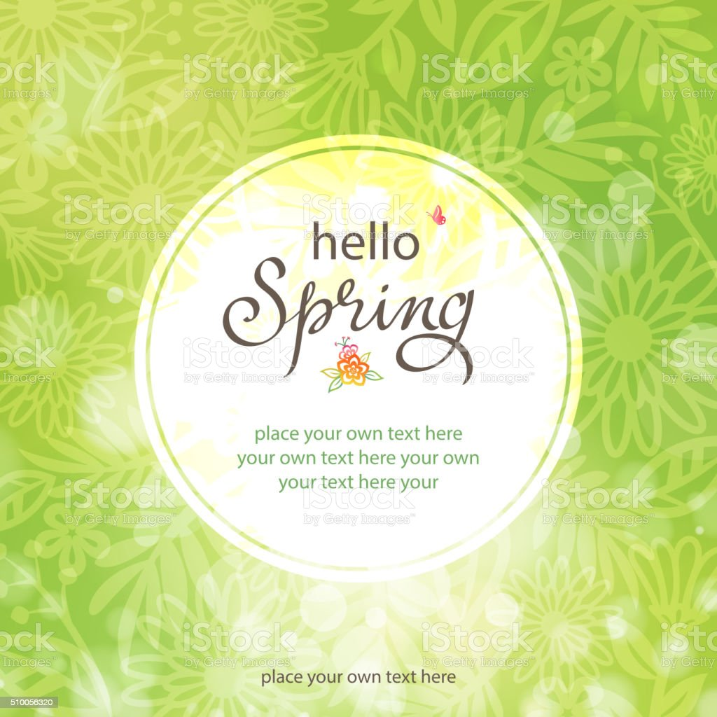 Green spring vector art illustration