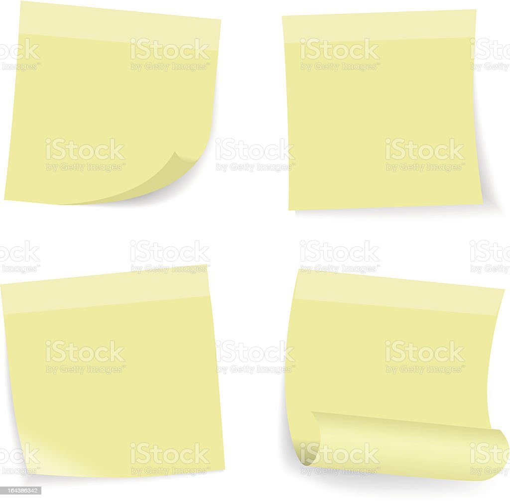 Green stick note set royalty-free stock vector art