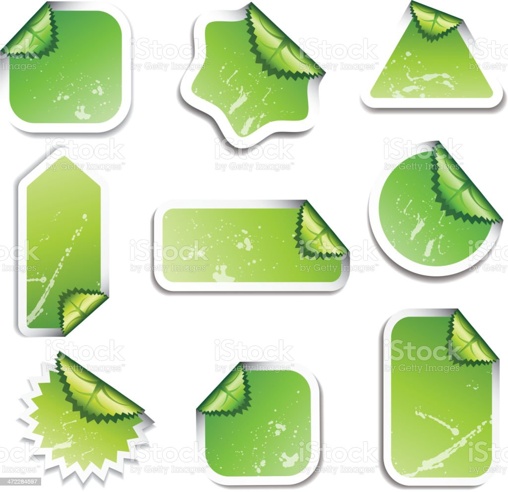 Green stickers royalty-free stock vector art