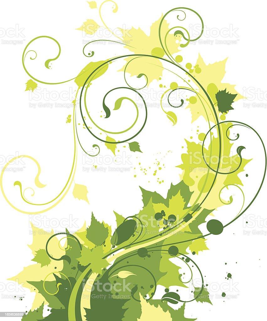 Green swirl royalty-free stock vector art