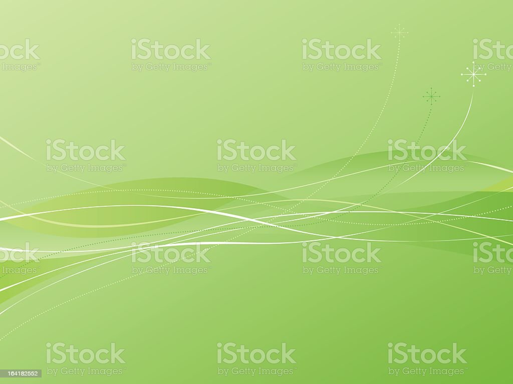 Green Swooshie Background royalty-free stock vector art