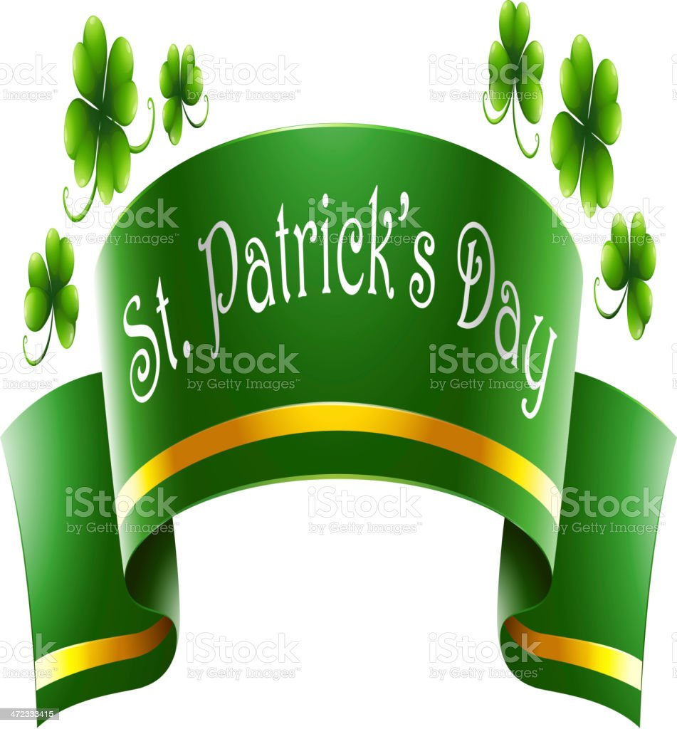 Green symbol for St. Patrick's Day royalty-free stock vector art