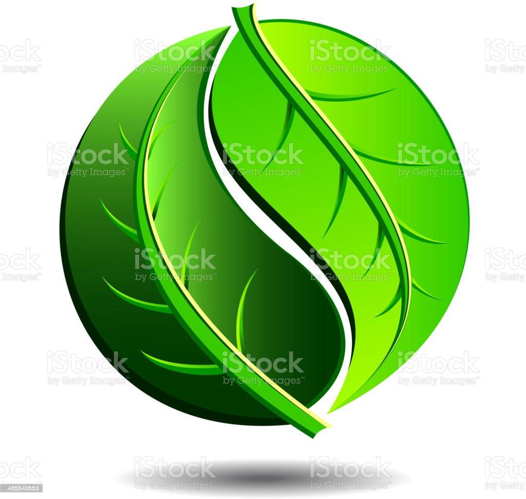 Green Symbol Logo vector art illustration