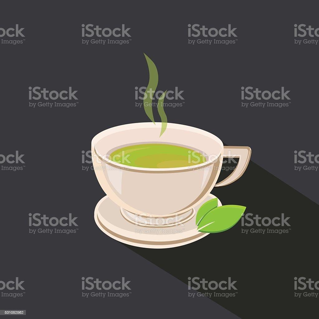 Green Tea cup vector illustration vector art illustration