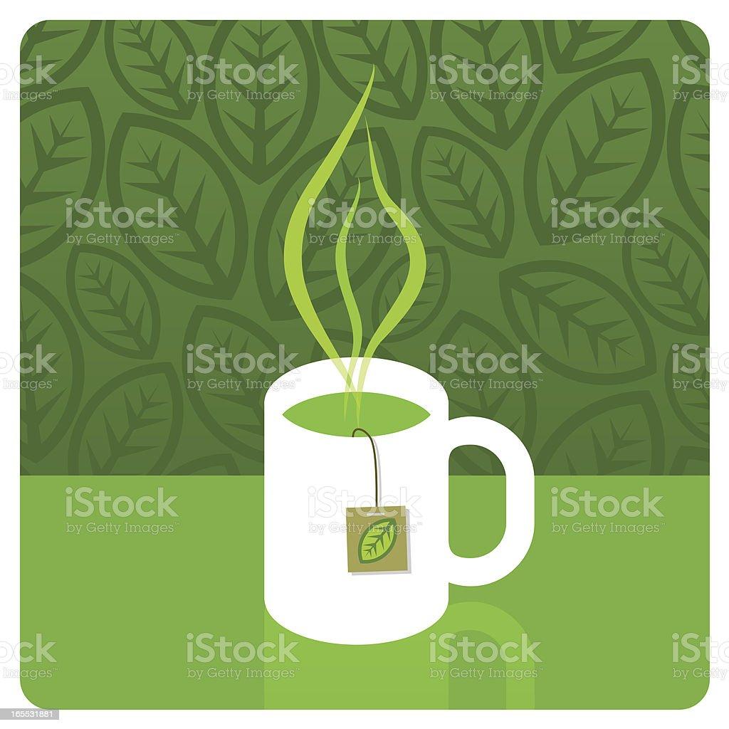 Green tea royalty-free stock vector art