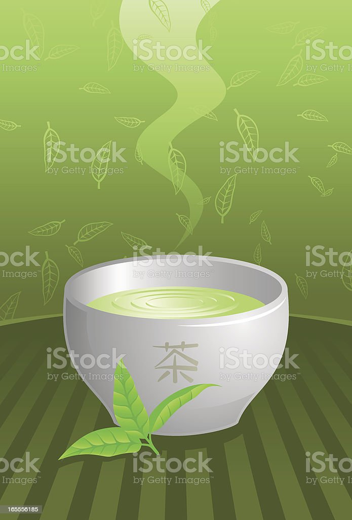 Green tea royalty-free stock vector art