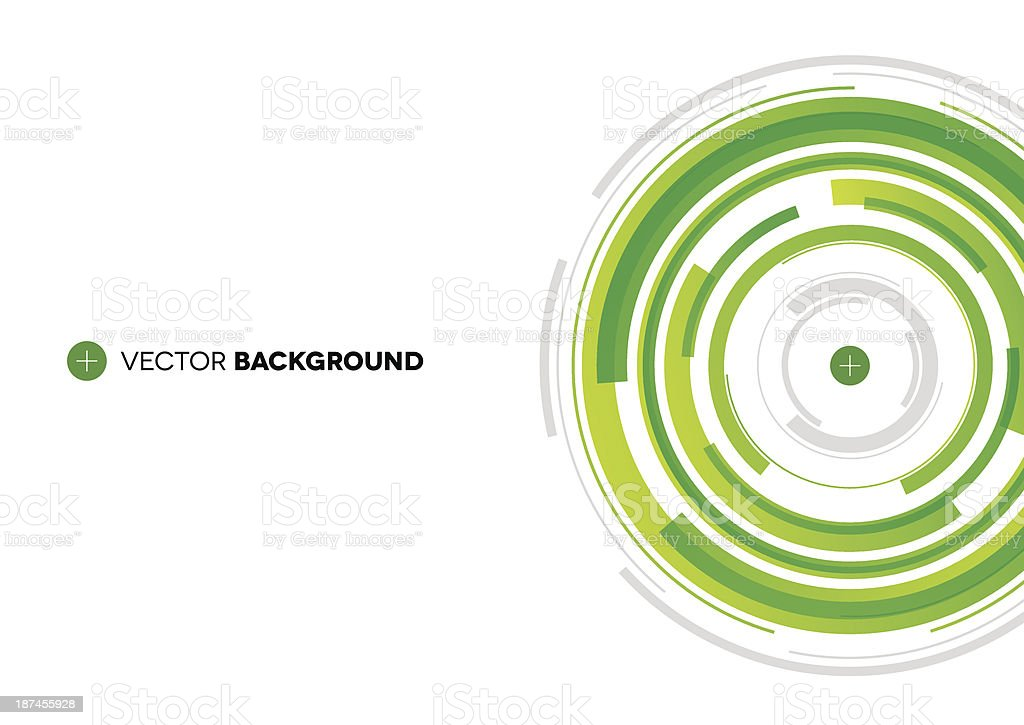 Green Technical Background vector art illustration