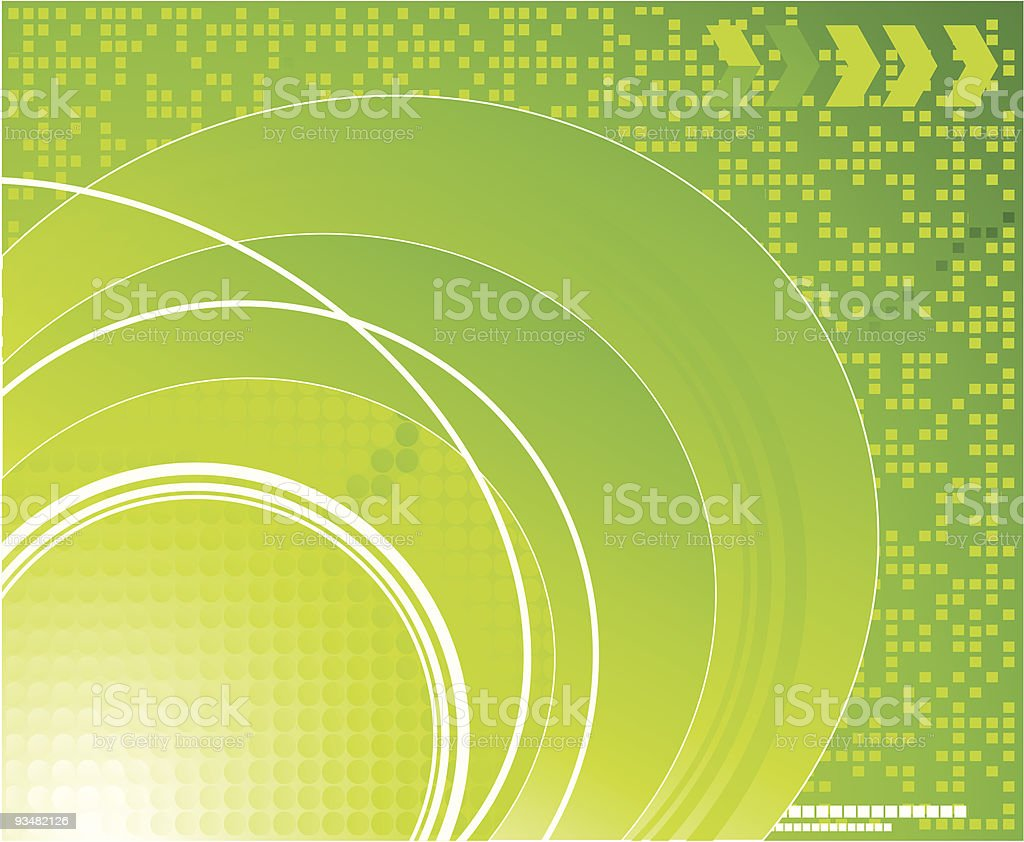 Green technical background royalty-free stock vector art