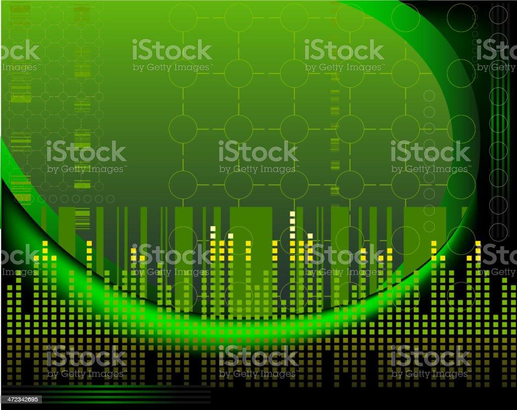 Tecnología de fondo verde illustracion libre de derechos libre de derechos