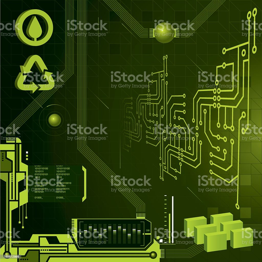 green technology royalty-free stock vector art