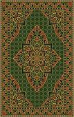 Green template for carpet.