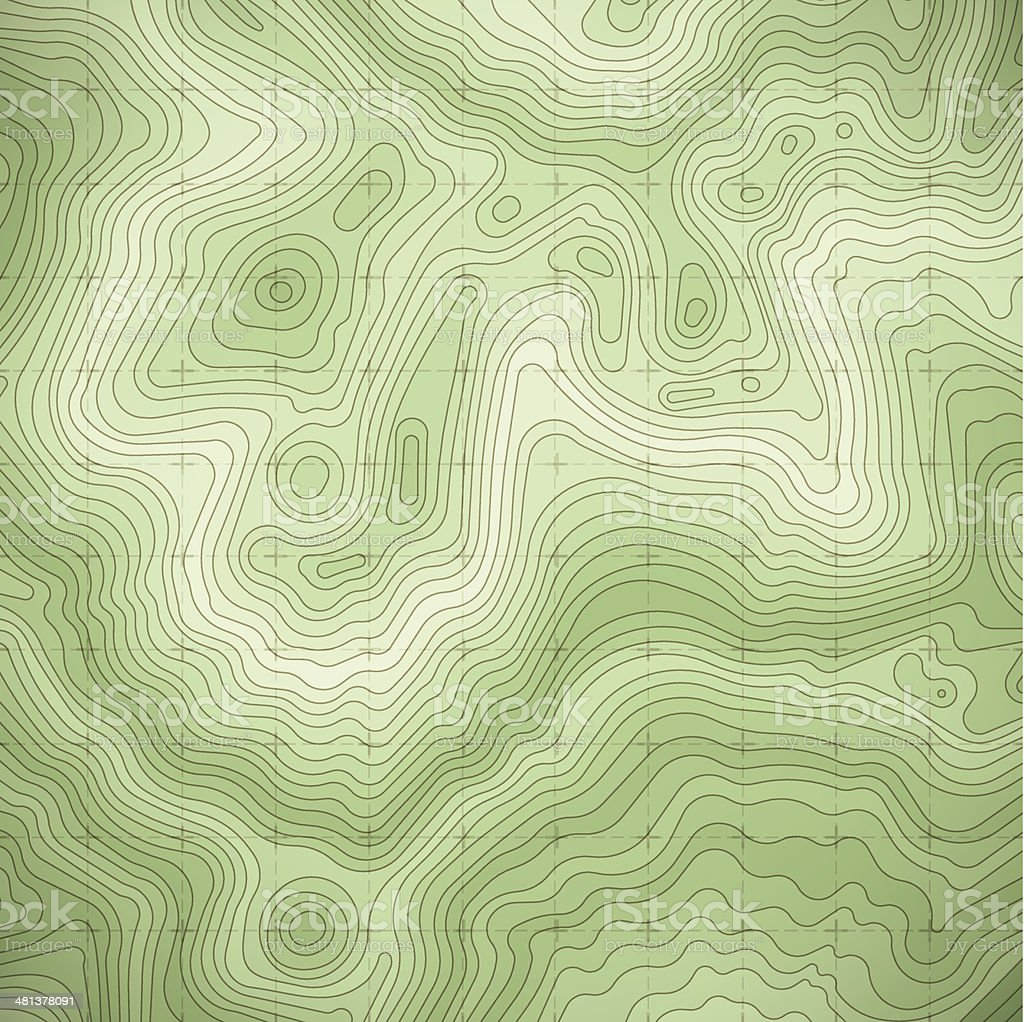 Green Terrain vector art illustration