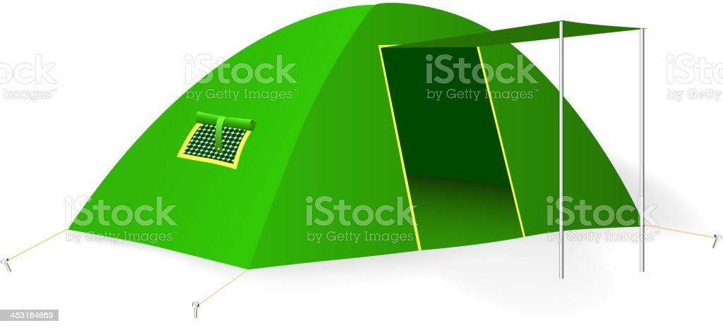 Green tourist tent. Vector illustration royalty-free stock vector art