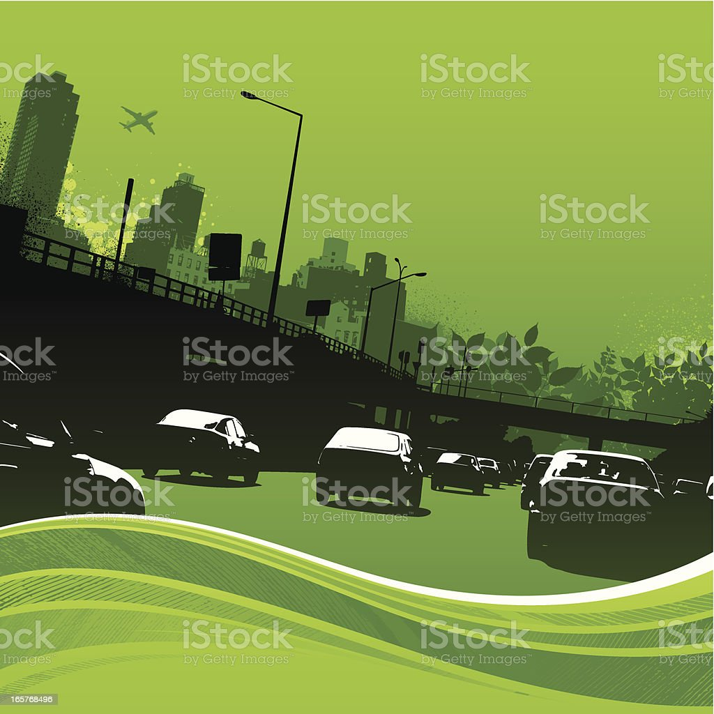 Green transport vector art illustration