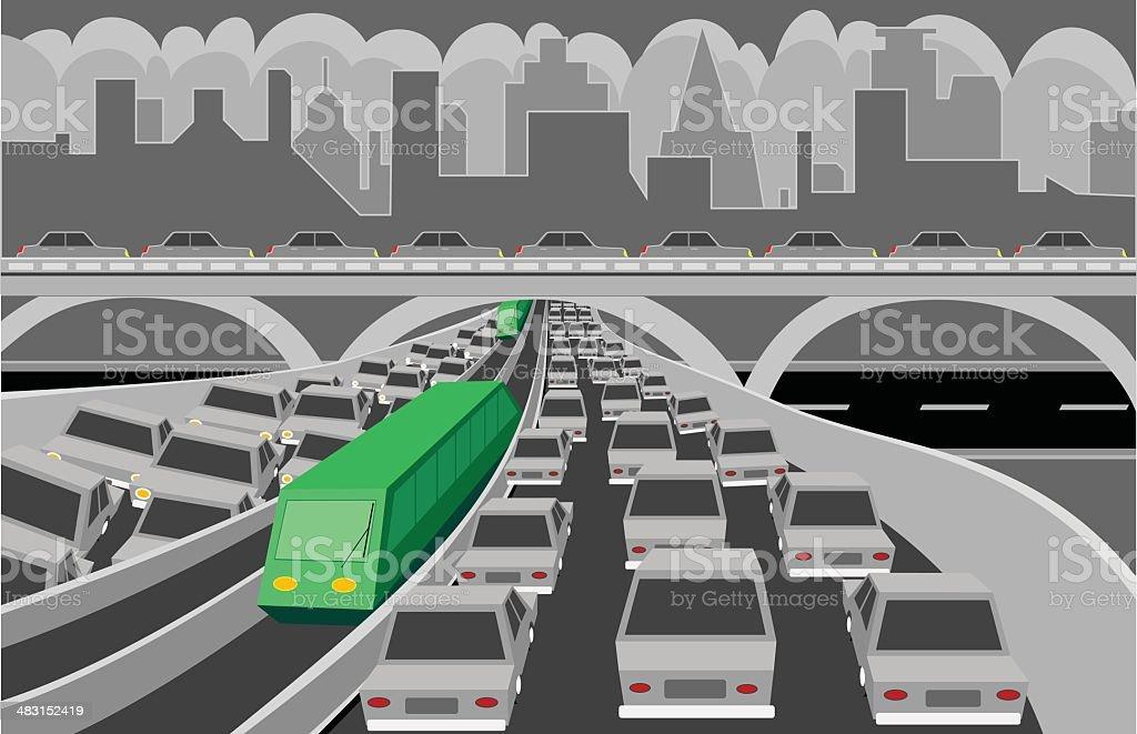 Green Transportation royalty-free stock vector art