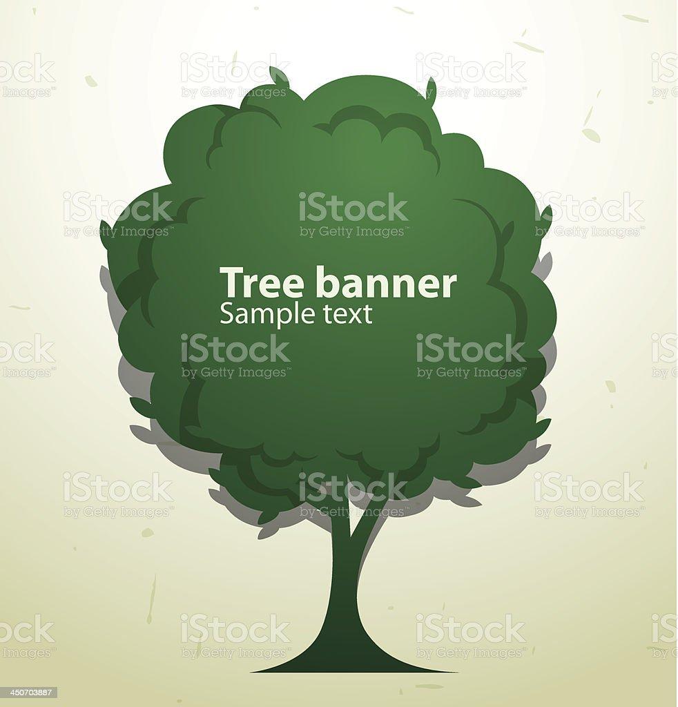 Green tree banner royalty-free stock vector art