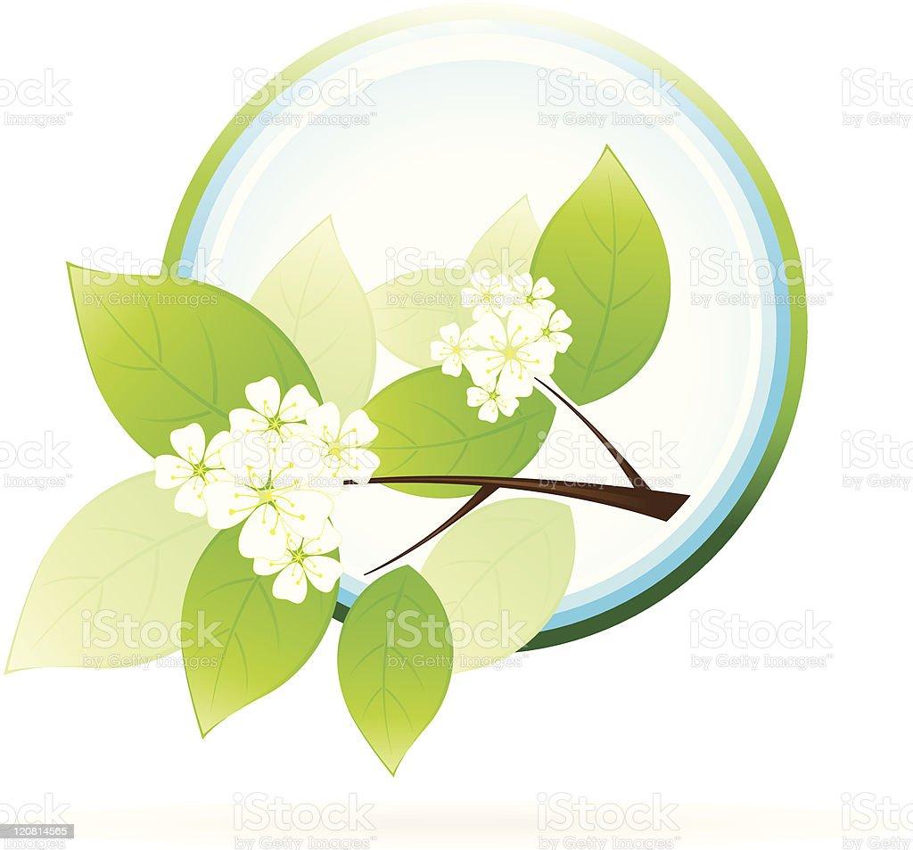 Green Tree Branch Icon royalty-free stock vector art
