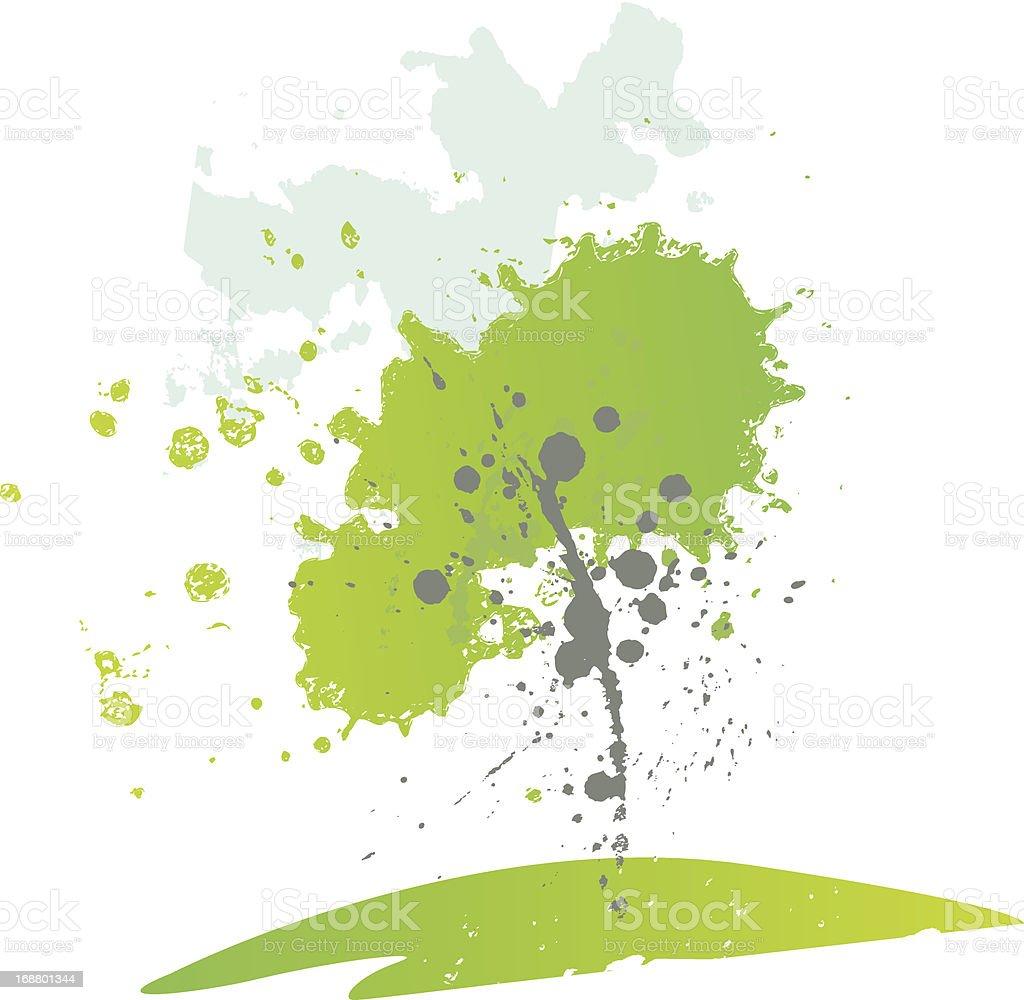 Green Tree royalty-free stock vector art