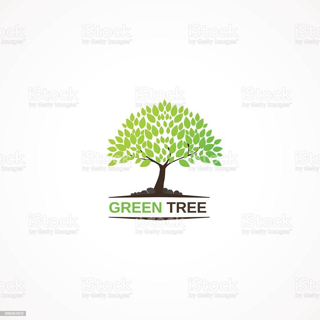 Green Tree. vector art illustration