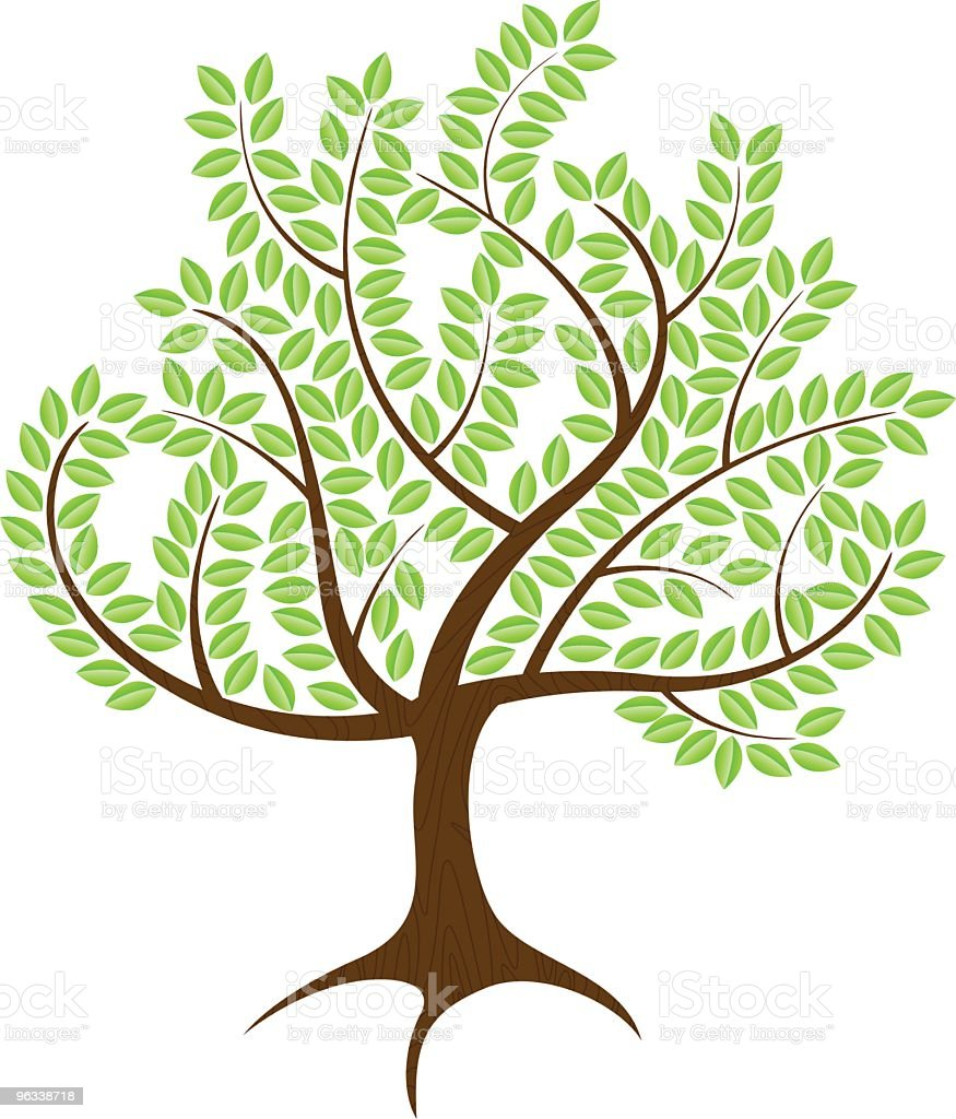 Green Tree royalty-free stock vector art