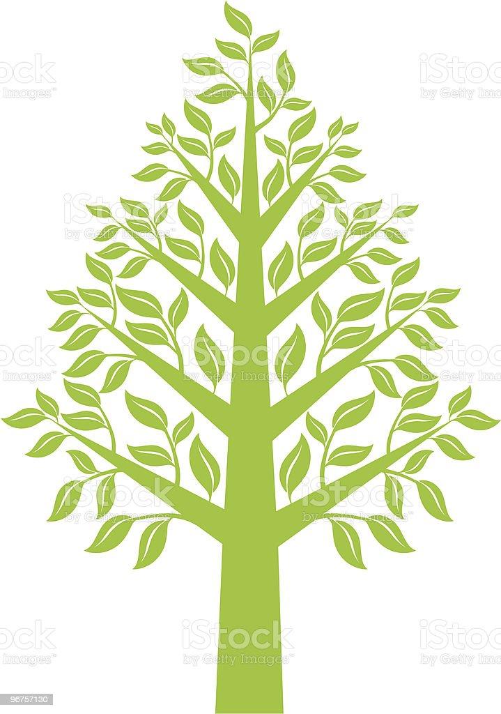 green tree, vector royalty-free stock vector art