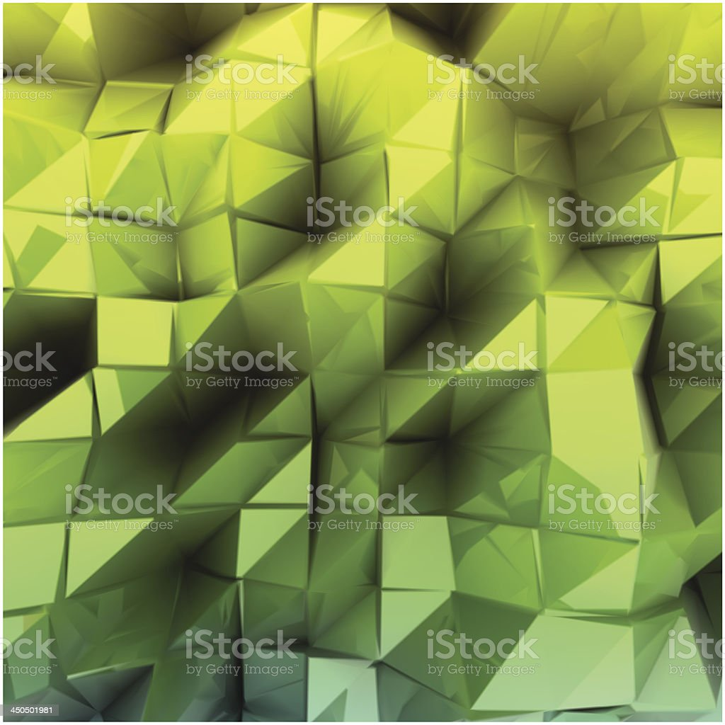 Green triangle abstract. Vector background royalty-free stock vector art