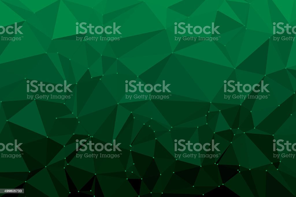 Green Triangle Polygon Pattern royalty-free stock vector art