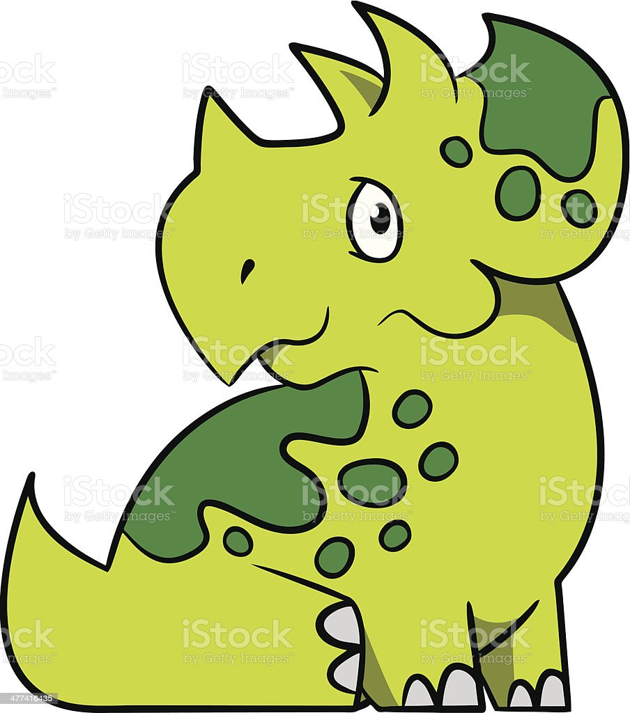 Green Triceratops royalty-free stock vector art