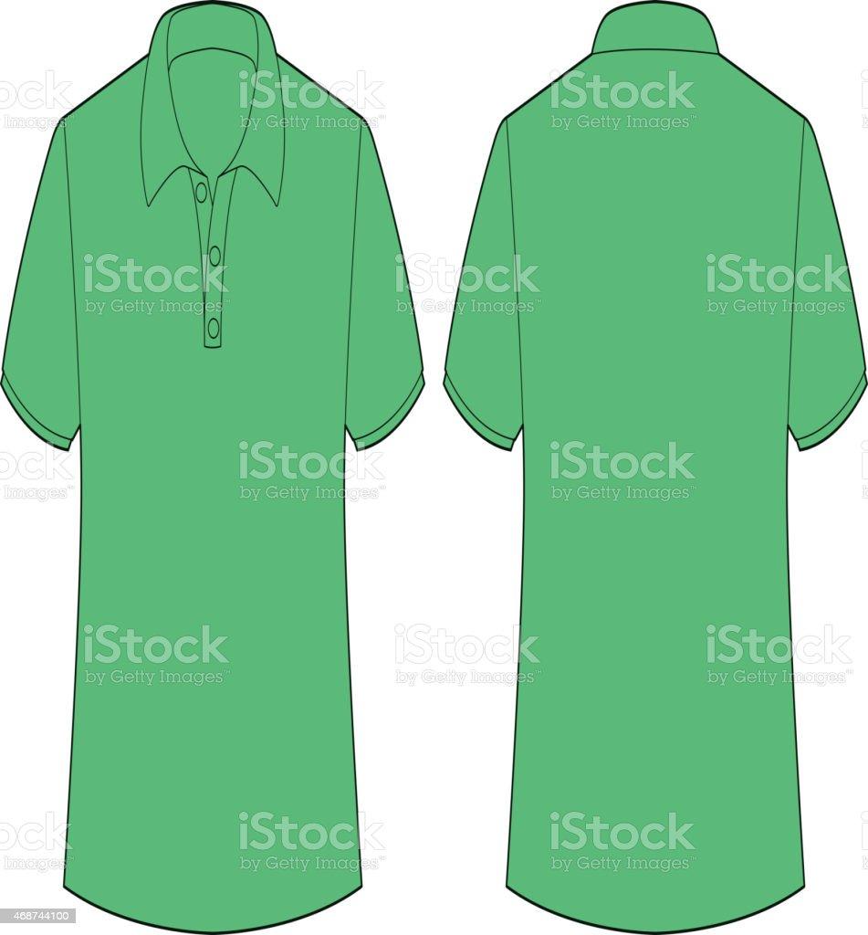 Green tshirt vector art illustration