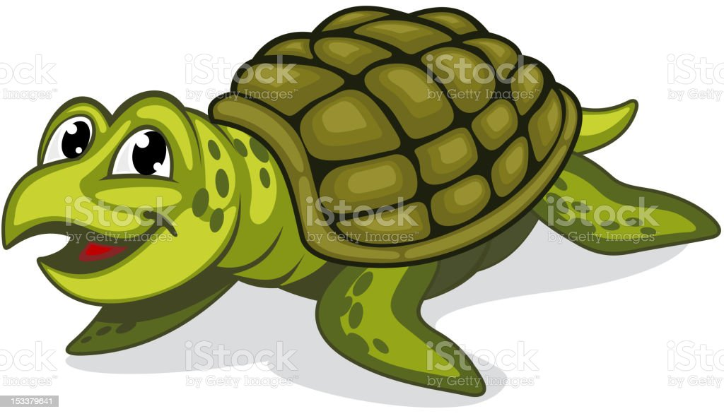 Green turtle reptile royalty-free stock vector art