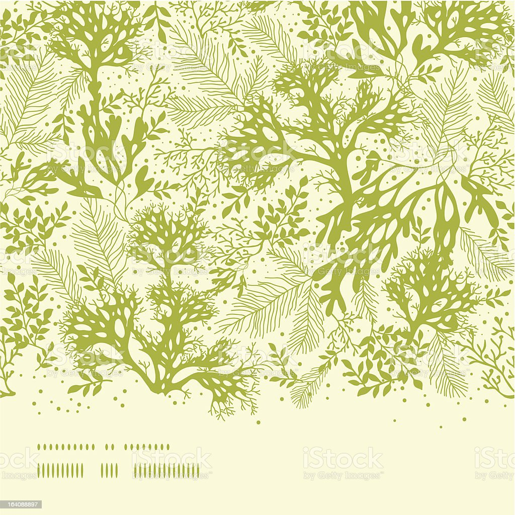 Green underwater seaweed horizontal seamless pattern background vector art illustration