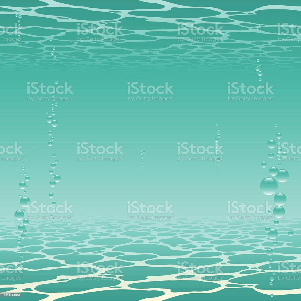 green underwater royalty-free stock vector art