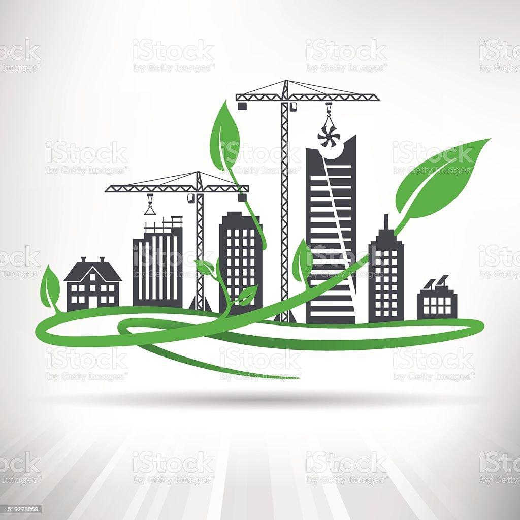 Green Urban Development Concept vector art illustration