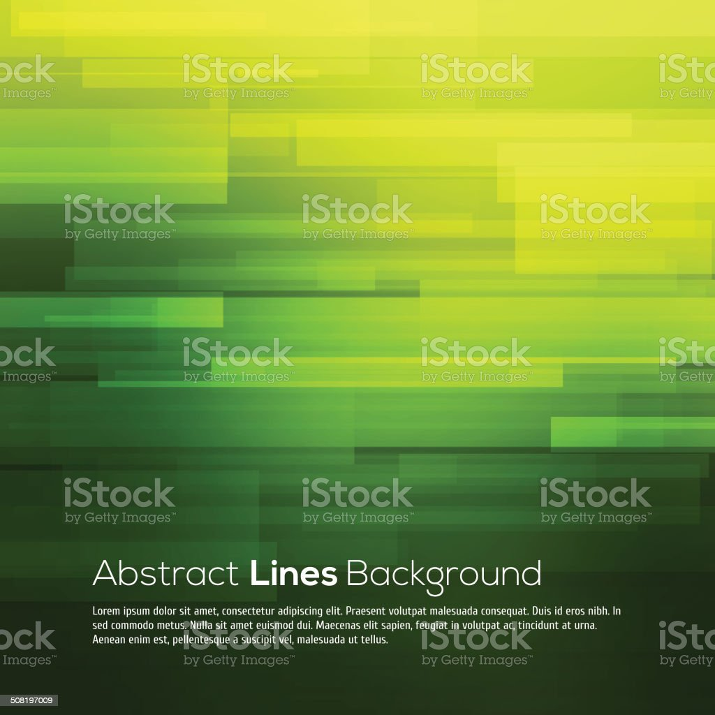Green vector abstract background with lines vector art illustration