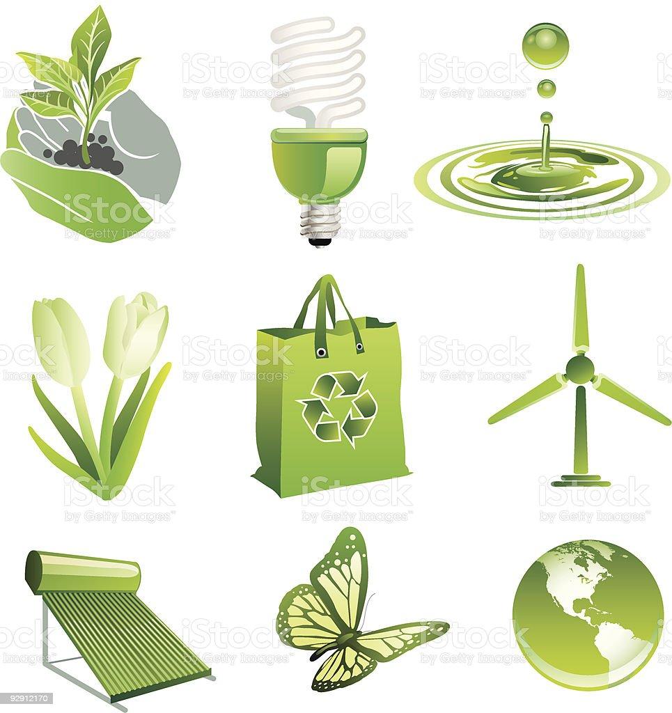 Green vector art illustration