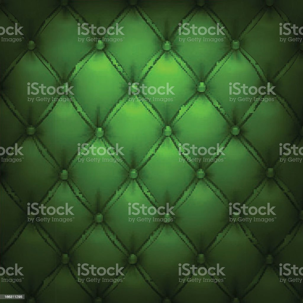 Green vector upholstery leather pattern background. royalty-free stock vector art