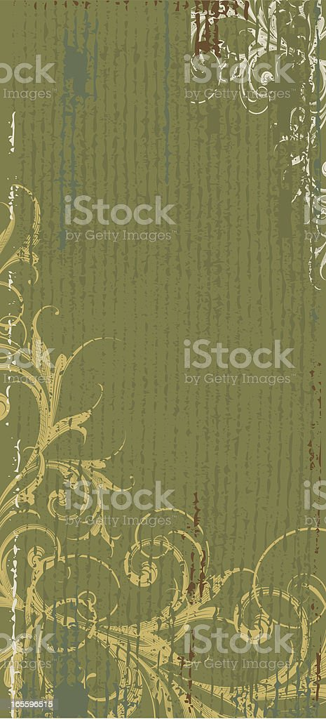 Green Vertical Banner royalty-free stock vector art
