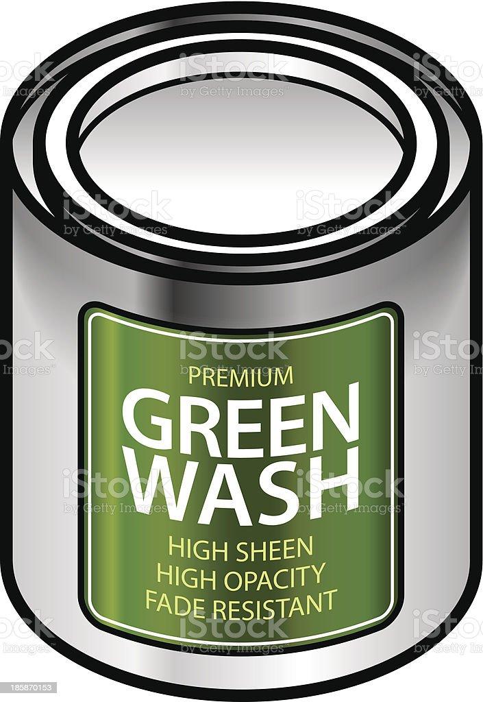Green washing royalty-free stock vector art
