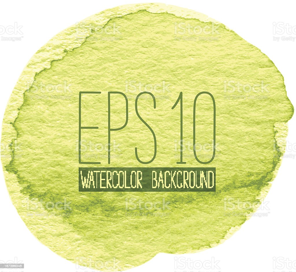 Green Watercolor Background royalty-free stock vector art