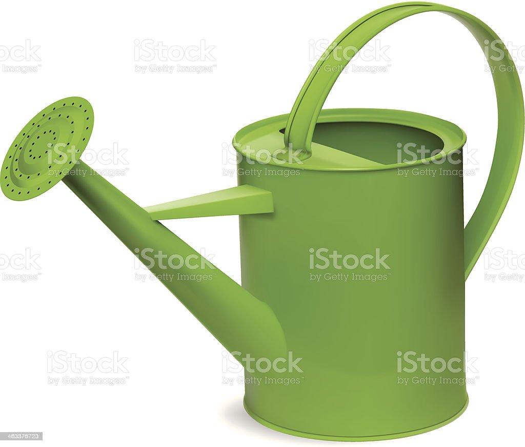 Green Watering Can vector art illustration