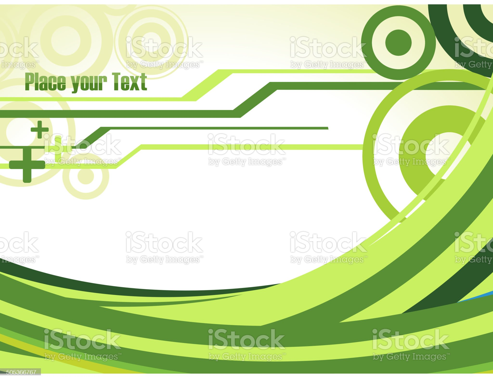 Green Waves royalty-free stock vector art
