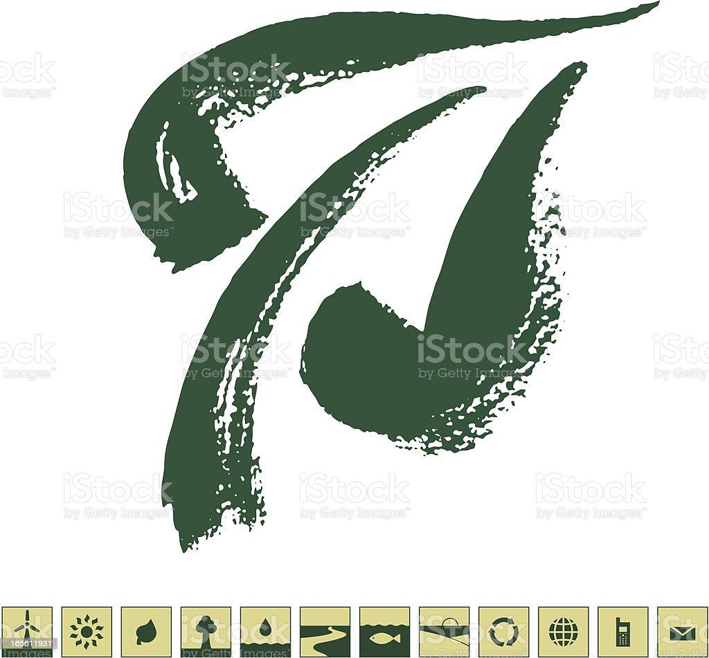 Green way royalty-free stock vector art