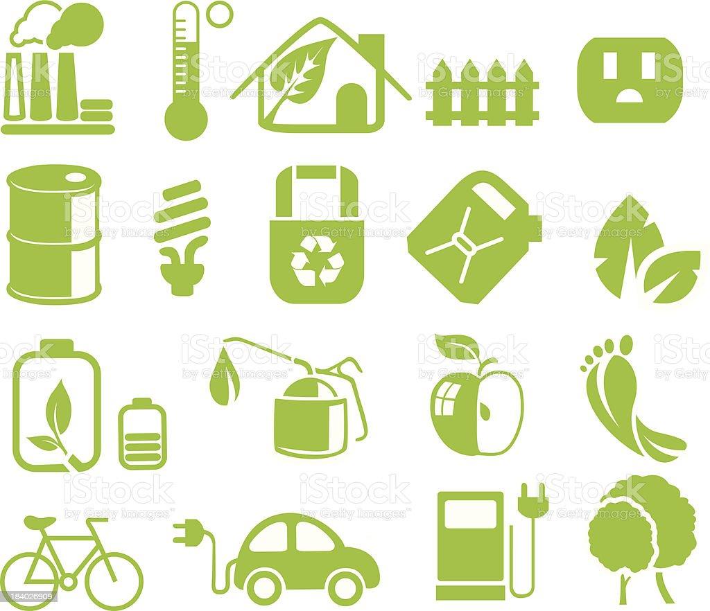 green web icons vector art illustration