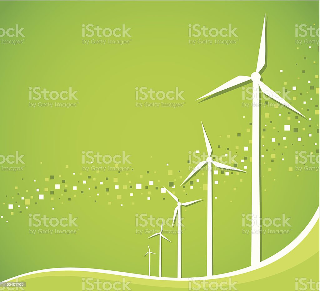 Green wind royalty-free stock vector art