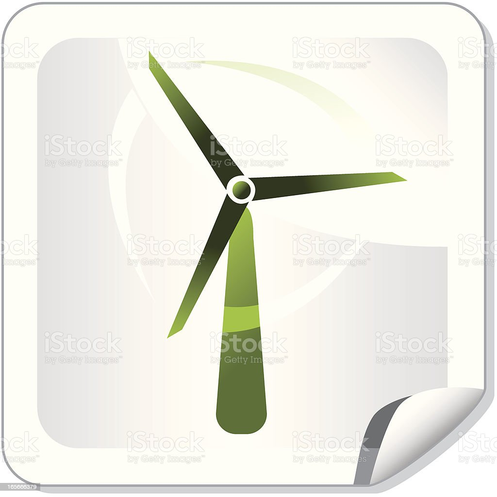 Green windmill icon royalty-free stock vector art