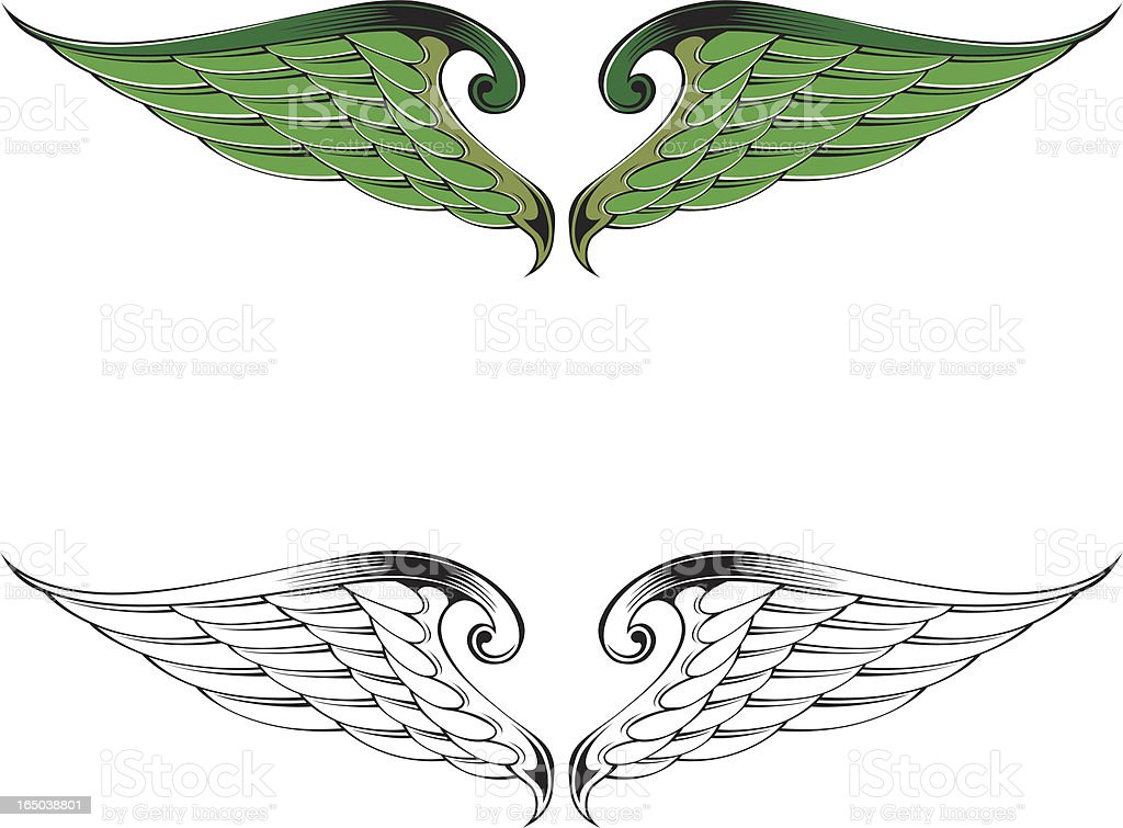 green wings royalty-free stock vector art